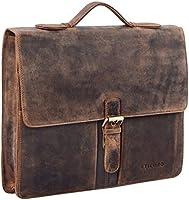 STILORD 'Aurelio' Porte-Documents en cuir avec Anse Pochette à documents DIN A4 pour MacBook 13,3 pouces Vintage Design Business en cuir