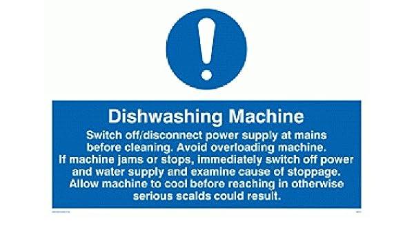 Viking Signs MM191-A3L-3D - Señal para reglas de lavadora (3 mm ...
