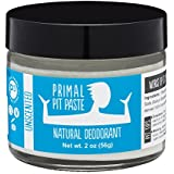 PRIMAL PIT PASTE All Natural Unscented Deodorant | 2 Ounce Jar | NO Aluminum, NO Parabens | Made for Women and Men of All Ages | Non-GMO, Cruelty Free, Earth Friendly, BPA Free