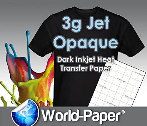 "8.5/""X11/"" INKJET TRANSFER PAPER FOR DARK FABRIC 50 CT NEENAH /""3G JET OPAQUE/"""
