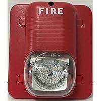 System Sensor SpectrAlert S241575 Wall Strobe, Red, 15/75 Candela, 24V