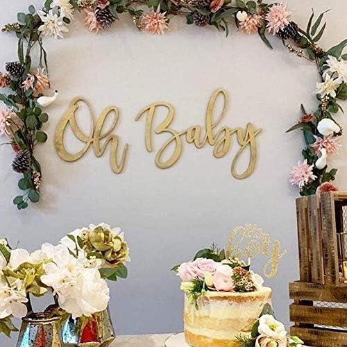 Oh Baby Wood Word Cutout Nursery Decor Gold Baby Shower Decor Gold Word Cutouts Laser Cut Words Nursery Name Sign