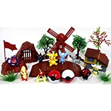 POKEMON 20 Piece Play Set Featuring RANDOM POKEMON Character Figures and Themed Accessories