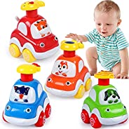 Baby Toy Cars for 1 Year Old Boy Gifts Press and Go Cartoon Truck Educational Toys for 1 Year Old Boy Pull Bac