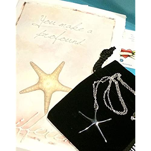 You Make a Profound Difference Gift Set - Greeting Card Gift - .925 Silver Plated Starfish Necklace - Show Appreciation Sales