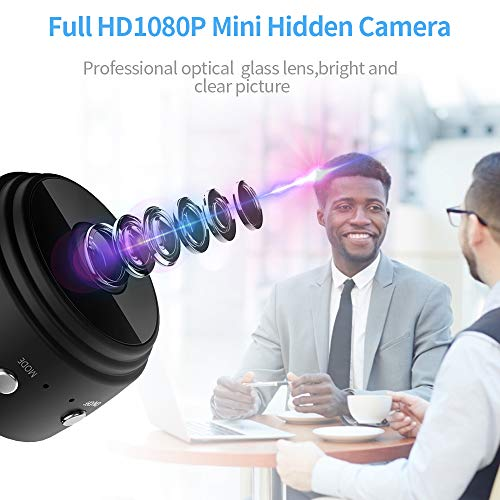 Wireless Camera WiFi Camera, kunkin 1080P Cam with Audio and Video Recording Micro Surveillance Camera for Night Vision/Motion Activated with Phone APP