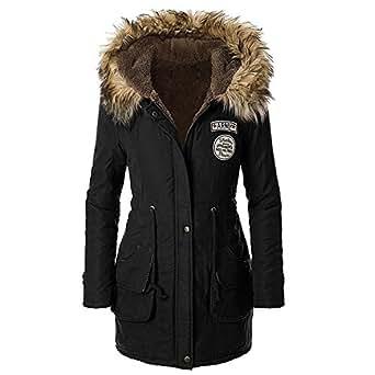 Amazon.com: Gaatpot Women's Ladies Faux Fur Parka Outdoor
