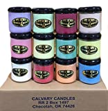 Case of 12 Calvary Double Scented 16 oz. Candles (Choose Combination)