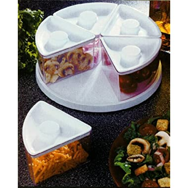 Lazy Susan Turntable Food Storage Bins, Clear, Food Saver or Pantry Use
