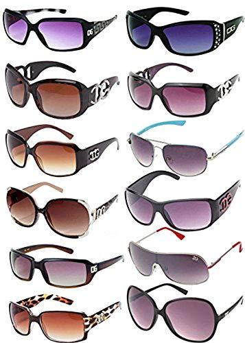 Wholesale Assorted Sunglasses Dozen with Microfiber Soft Pouches