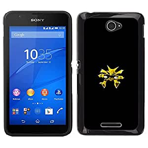 LECELL--Funda protectora / Cubierta / Piel For Sony Xperia E4 -- Alakazam P0kemon --