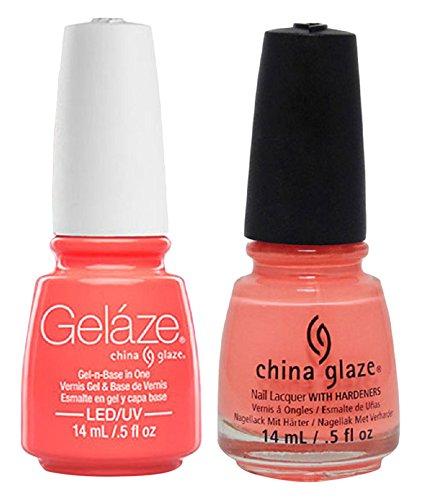 China Glaze Gelaze Tips and Toes Nail Polish, Flip Flop Fantasy, 2 Count (Fantasy Gel Coat)