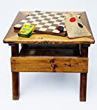 Kids Checkers and Chalkboard, 2-sided game board, Solid Wooden Game and Activity Table, Indoor/Outdoor Review