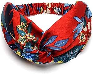 hair accessories European and American silk wide-brimmed cross hair band bow headdress-Red