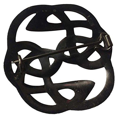 AAR Celtic Knot Kilt Fly Plaid Brooch for 3.50'' Diameter Antique Finish by AAR (Image #2)