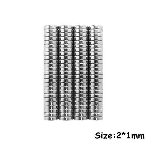 Sunkee Fuertes discos de imán de neodimio de tierras raras, 4x1mm: Amazon.es: Hogar