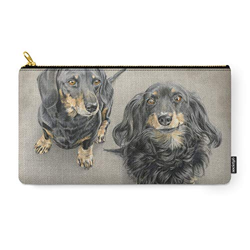 Society6 Pouch, Size Medium (9.5'' x 6''), The Long And Short Of It by sarahbatalka by Society6