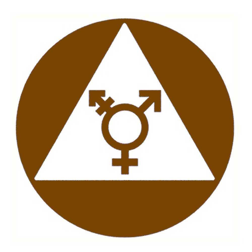 Amazon.com: Ada Compliant Neutral de género Símbolos Cartel ...