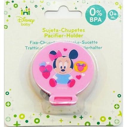 Cadena para chupete, diseño de MINNIE de Disney Baby-tetine **0% BPA 0 m