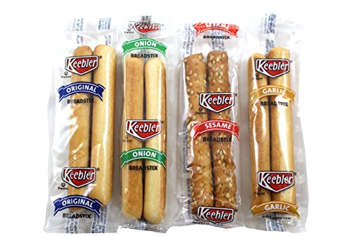 Keebler Variety Breadstick Crackers, Individual 2 Count Packets, 100 Total Packs