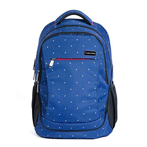 YuHan Oxford Baby Diaper Bag Backpack Diaper Pad Insulation Bag Fit Stroller (Blue) (Oxford Stroller)