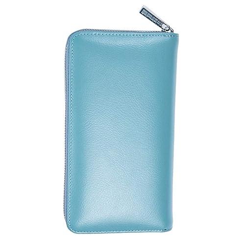 Homyl Monedero Carteras para Mujer de Cuero RFID Bolso de Mano Organizador para Llaves Monedas Tarjetas - Azul, como se describe: Amazon.es: Zapatos y ...