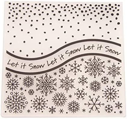 Merry Christmas Happy New Year Snowflake Background Plastic Embossing Folder for Scrapbook DIY Album Card Tool Plastic Template Folders