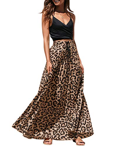 Womens Leopard Chiffon Pleated Waisted product image