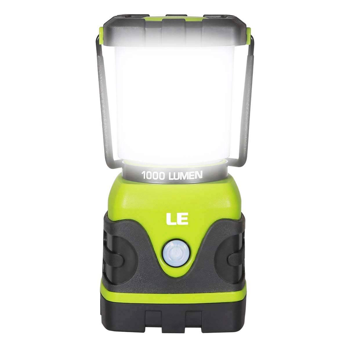 LE LED Camping Lantern, Battery Powered LED with 1000LM, 4 Light Modes, Waterproof Tent Light, Perfect Lantern Flashlight for Hurricane, Emergency, Survival Kits, Hiking, Fishing, Home and More by Lighting EVER