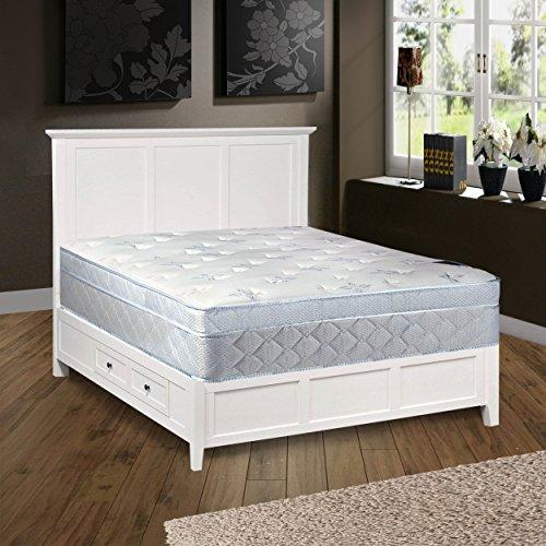 """Continental Sleep Mattress, 10"""" Plush Pillowtop Eurotop, Fully Assembled Othopedic Queen Mattress,Luxury Collection"""