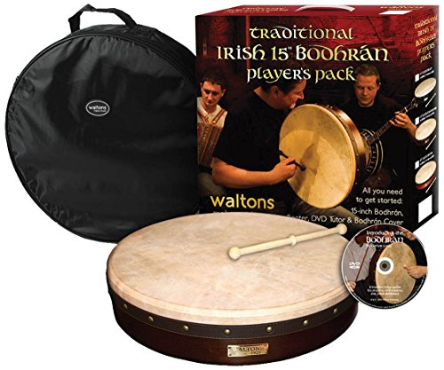 Waltons WMP1900-415 15-Inch Plain Bodhran Pack Classic Brown by Waltons