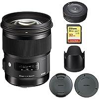 Sigma 50mm f/1.4 DG HSM Lens for Nikon F Cameras (311306) with Sigma USB Dock for Nikon Lens & SanDisk 32GB Extreme SD Memory UHS-I Card w/ 90/60MB/s Read/Write, SDSDXVE-032G-ANCIN
