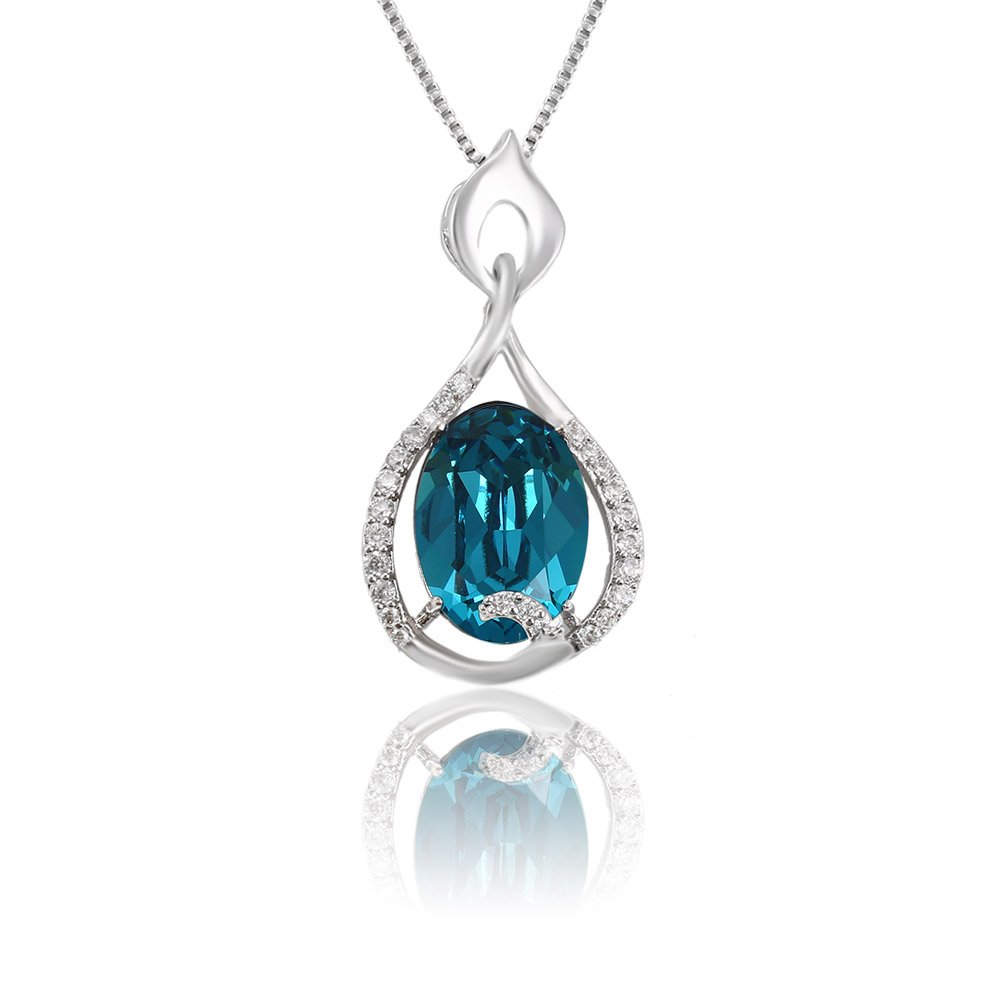 Xuping Halloween Necklace Crystals from Swarovski Jewelry M3-1913 (Sky Blue)