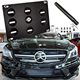 Xotic Tech License Plate Mounting Bumper Tow Hook Bracket for Mercedes GLK GLC GLE, Black