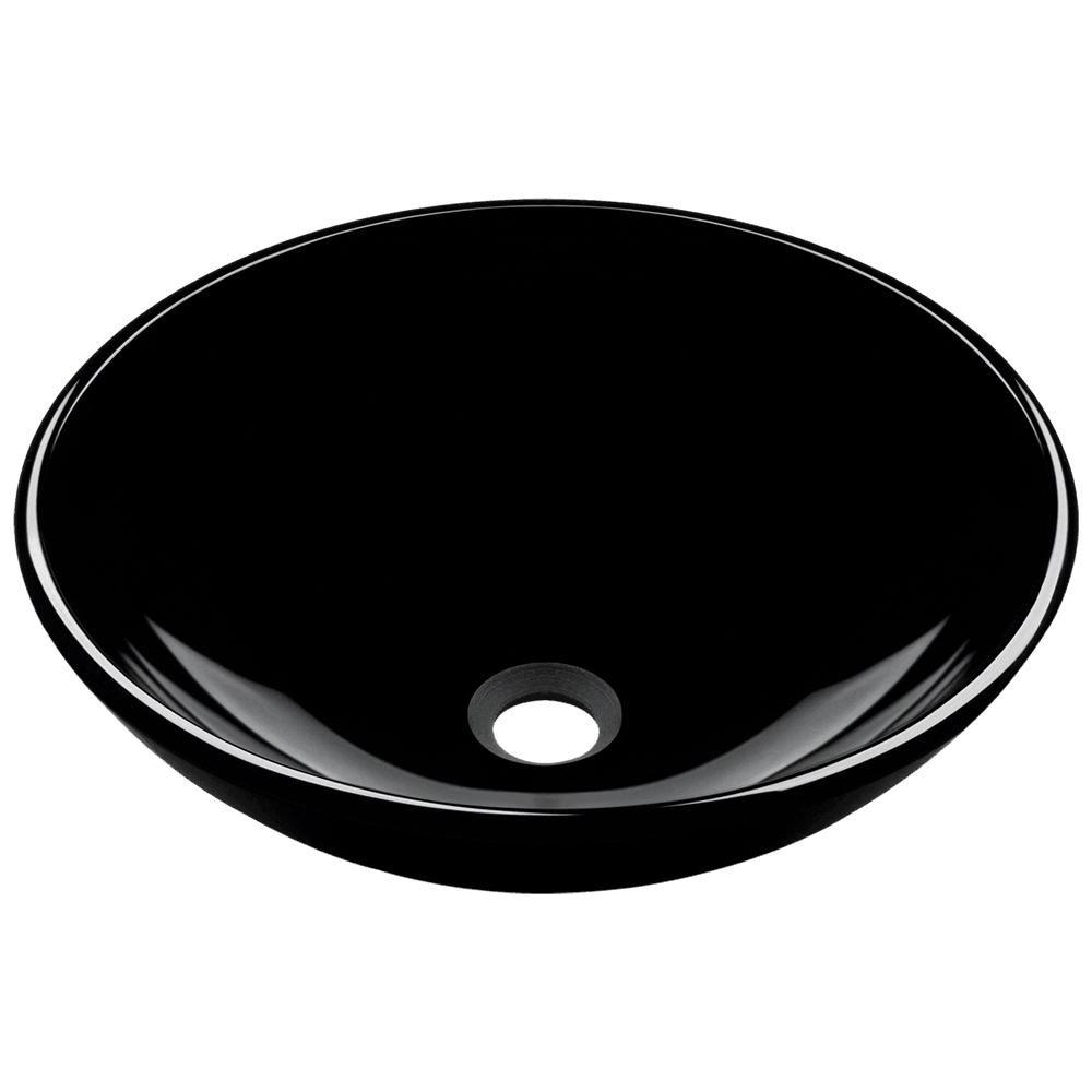 601 Black Coloured Glass Vessel Sink