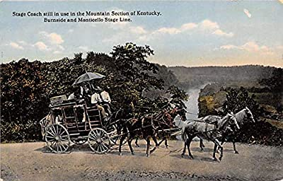 Horse Drawn Stage Coach, Burnside & Monticello Stage Line Kentucky, USA Unused