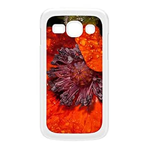 Wet Poppy White Hard Plastic Case for Galaxy Ace 3 by Mick Agterberg + FREE Crystal Clear Screen Protector