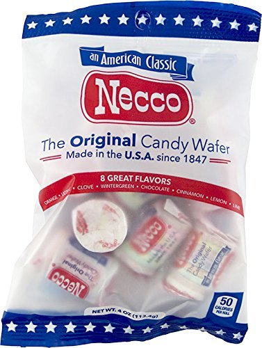 Set of 6 - 4oz Bags of Original Candy Wafers by Necco - Retro & Nostalgic Hard Candies - Includes Assorted Flavors Such as Orange, Lemon, Lime, Clove, Chocolate, Cinnamon, Licorice and Wintergreen! by Necco (Image #1)