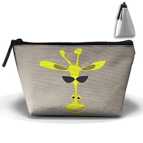 KYSK Giraffe Wearing Sunglasses Fashion Zipper Large Capacity Travel Bag Cosmetic - Equip Sunglasses