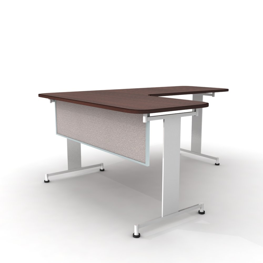Obex 18X48A-A-OV-MP 18'' Acoustical Desk and Table Mounted Modesty Panel, Overcast, 18'' x 48''