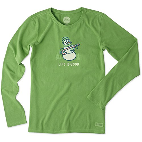 life-is-good-womens-longsleeve-crusher-snowman-candy-cane-treetop-green-large