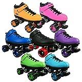 Riedell Skates - Dart - Quad Roller Speed Skates,Purple,1