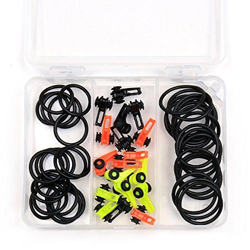 Keeper Leader (Trustool Fishing Rod Pole Hooks Keeper 36pcs Plastic Fishing Lure Holder Fishing Accessories, with trackle box)