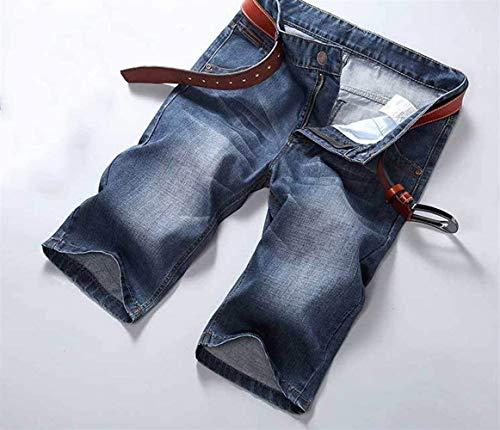 Slim Hellblau Semplice A Bermuda Dritti Pantalone Stile Lanceyy Sportivi Dritta Uomo Regular Jeans Pantaloni Basic Ssige Tagliati Gamba A4qTwxZw