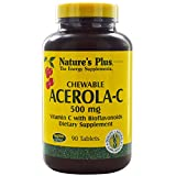 Nature's Plus, Chewable Acerola-C, Vitamin C with Bioflavonoids, 500 mg, 90 Tablets - 3PC