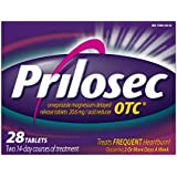 Prilosec OTC Frequent Heartburn Medicine and Acid Reducer Tablets 28 Count