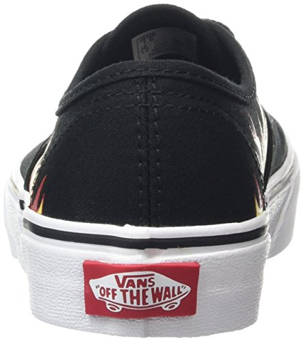 Red Unisex Black Flame Low Black Kids' Authentic Racing Top Vans Sneakers HwKTvTdq