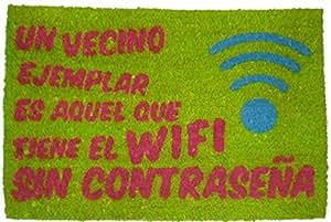 koko doormats 135046 Felpudo con diseño wi-fi, Coco, 60 x 40 cm