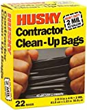 Husky Hk42wc022b Contractor Clean-up 22 Bags, 42 Gallon