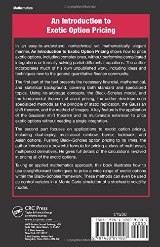An Introduction to Exotic Option Pricing (Chapman and Hall/CRC Financial Mathematics Series)
